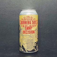 Burning Sky Snap Decision American Brown Ale Sussex vegan
