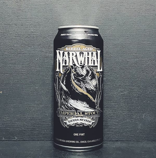 Sierra Nevada Barrel Aged Narwhal Imperial Stout USA vegan