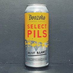 Donzoko Select Pils Petit Blanc Single Hopped Lager Hartlepool vegan