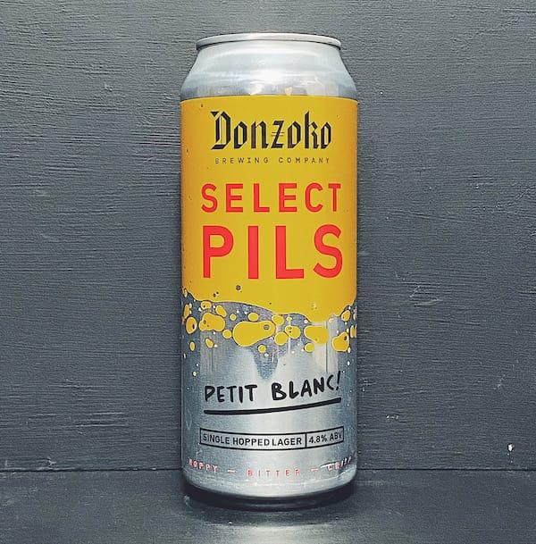 Donzoko Select Pils Petit Blanc Single Hopped Lager Hartlepool vegan