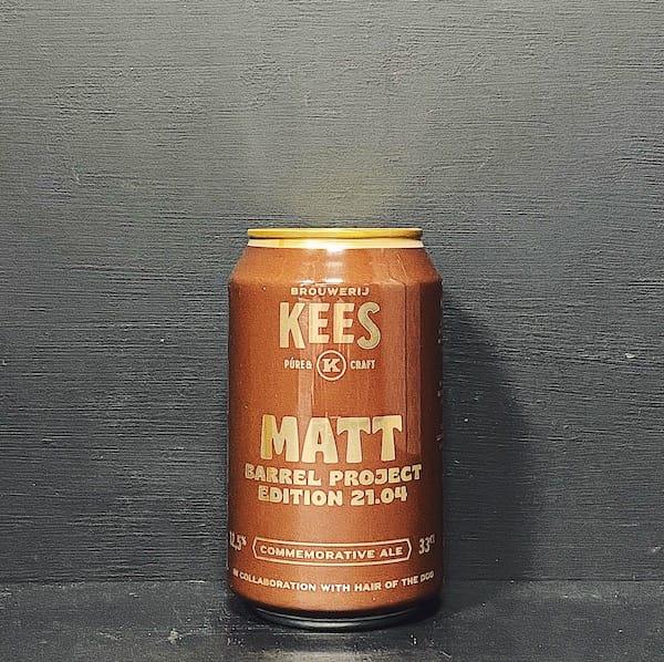 Kees Matt Barrel Aged American Strong Ale Hair Of The Dog collar Netherlands vegan
