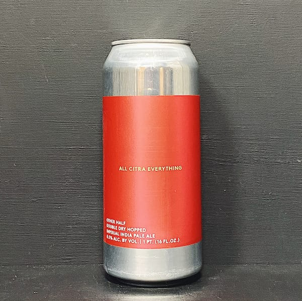 Other Half Double Dry Hopped All Citra Everything Imperial IPA USA vegan