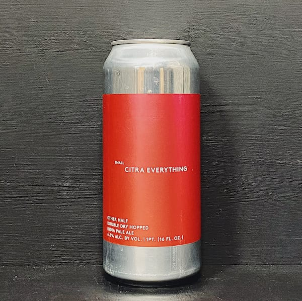 Other Half Double Dry Hopped Small Citra Everything IPA USA vegan