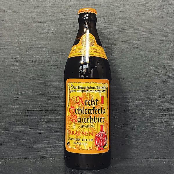 Brauerei Heller Aecht Schlenkerla Rauchbier Krausen Smoked Lager Germany vegan