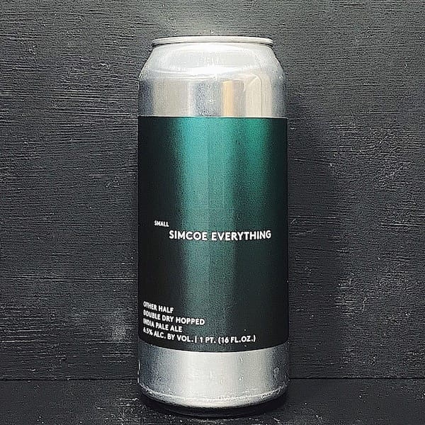 Other Half Double Dry Hopped Small Simcoe Everything Double Dry Hopped India Pale Ale NYC USA vegan
