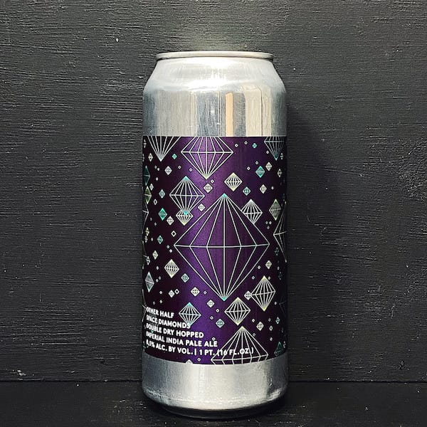 Other Half Double Dry Hopped Space Diamonds Double Dry Hopped Imperial India Pale Ale NYC USA vegan
