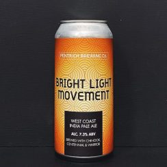 Pentrich Bright Light Movement West Coast IPA Derbyshire vegan