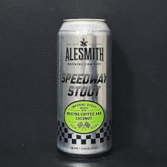 Alesmith Speedway Stout With Mostra Coffee And Coconut. USA vegan