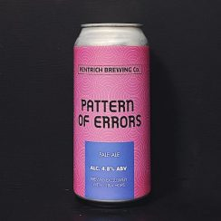 Pentrich Pattern Of Errors Pale Ale Derbyshire vegan