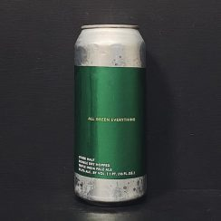 Other Half Double Dry Hopped All Green Everything Double Dry Hopped Triple India Pale Ale. USA NYC vegan