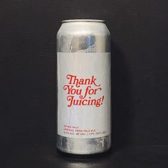 Other Half Thank You For Juicing Imperial India Pale Ale. USA NYC vegan