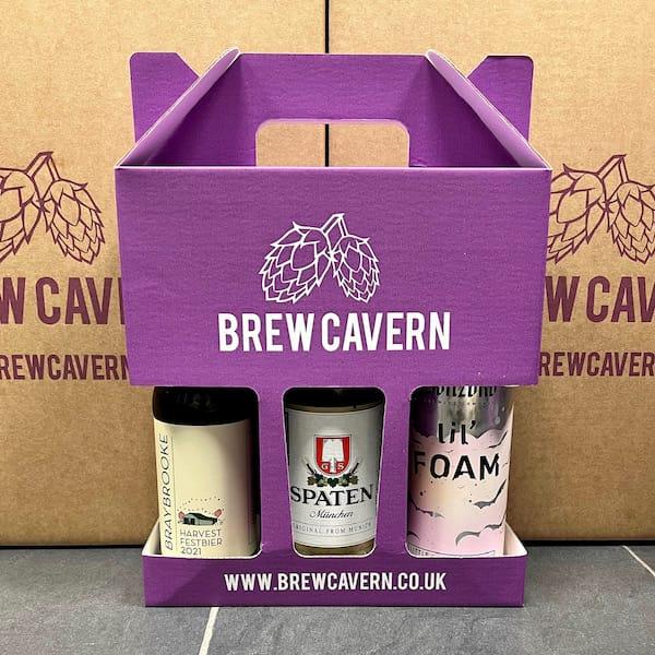 Brew Cavern Mixed PAcks Lager 3 Packs 3 x Lagers Nottingham vegan